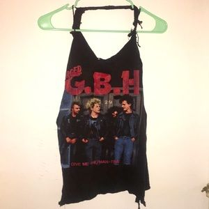 Tops - Distressed Charged G.B.H. Tank top